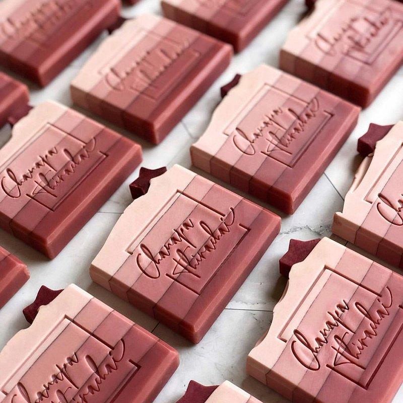 快速出貨│腮紅漸層手工皂60g|防疫洗手婚禮小物企業公司禮品贈品