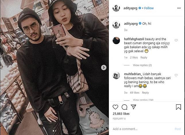 Aditya Prayoga dan pacar barunya (Instagram/adityaprg)