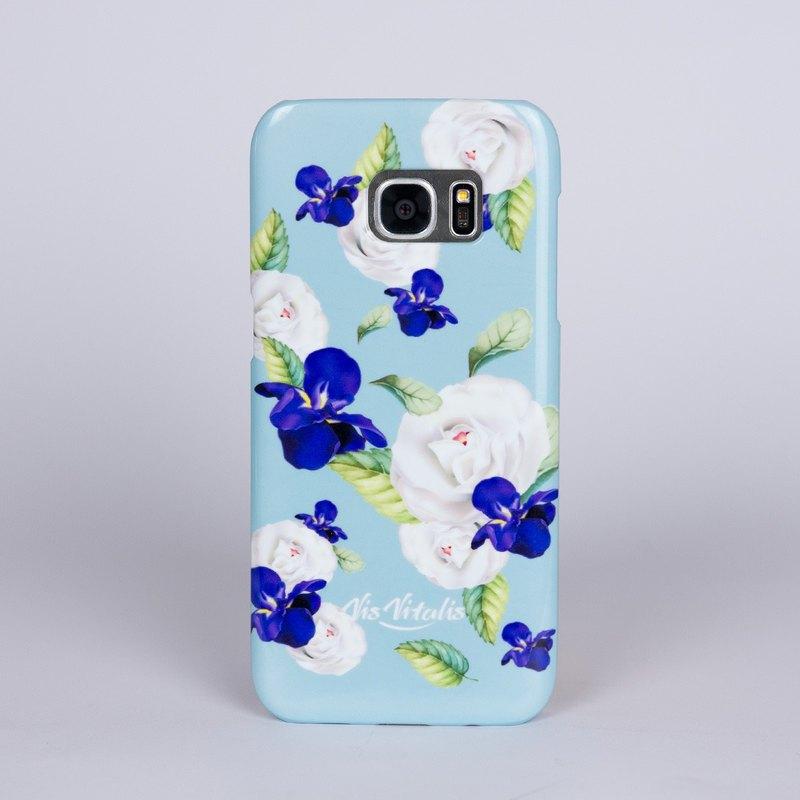 【花語系列】 純白山茶花與藍色鳶尾花象徵色彩絢爛,理想的戀人。