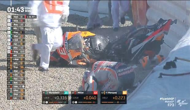 Marquez Kecelakaan di Latihan Bebas Ketiga MotoGP Spanyol 2021