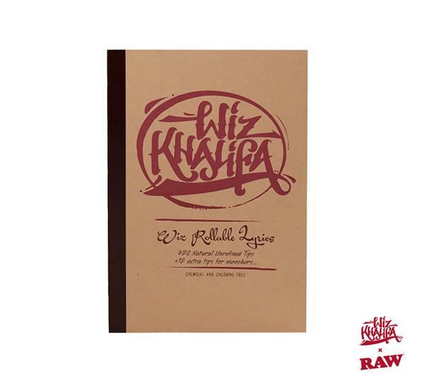 RAW x Wiz Khalifa Rollable Lyrics Book Of Tips 聯名歌詞濾嘴本