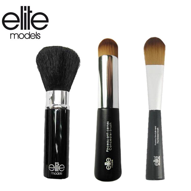olina法國elite 精選化妝刷具組-3件組(美妍修容刷+粉底刷+專業遮瑕刷) 法國專業美妝品牌