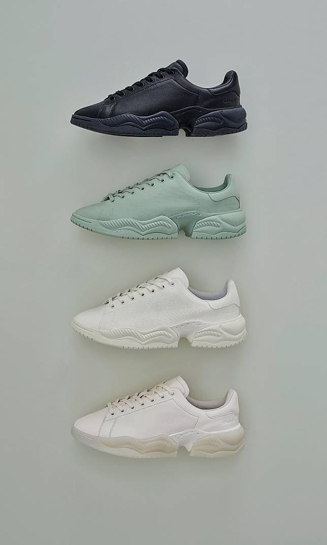 上月推出的OAMC x adidas Originals TYPE O-2,設計將Stan Smith與Supercourt RX兩者結合,並分別推出全黑色、綠色、米白色及純白色。(互聯網)