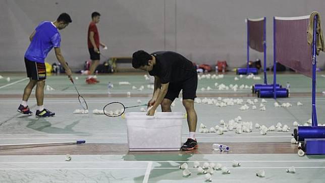 FOTO: Persiapan Anthony Ginting dan Jonatan Christie Jelang Indonesia Open