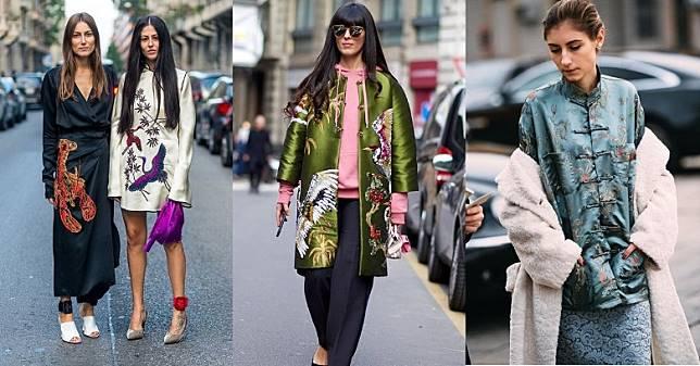 對於歐美時尚圈,中國風也是一個時髦的字眼,街拍潮人便示範了如何在日常生活中穿着中國風服飾,看她們以唐裝、旗袍等搭配出時尚度爆燈的造型,絕對值得女生參考。(互聯網)