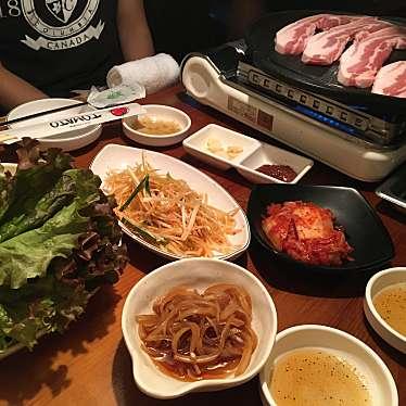 実際訪問したユーザーが直接撮影して投稿した大久保韓国料理生サムギョプサル専門店 トマトの写真