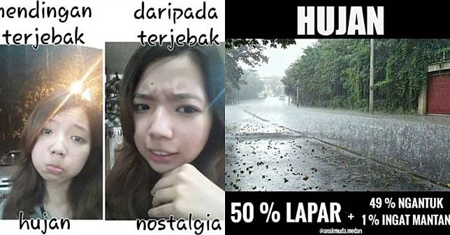 74+ Gambar Lucu Hujan Turun Paling Hist