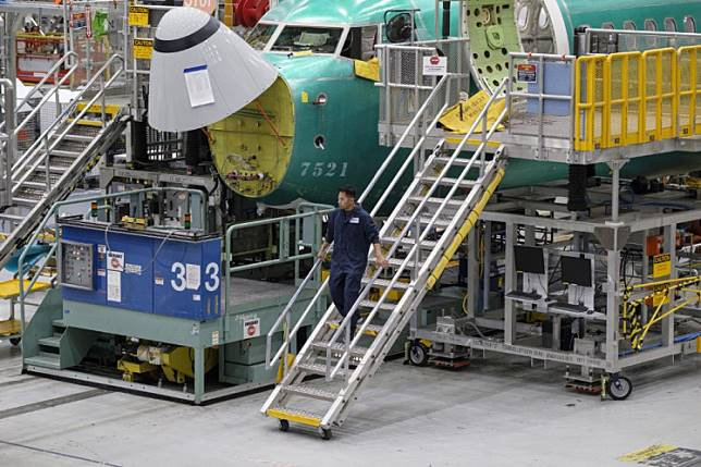 Boeing 737 airplanes are pictured on the company's production line, on March 27, 2019 in Renton, Washington. In the wake of two 737 MAX 8 airliner crashes the company was holding meetings to update those in the aviation industry on software updates and additional pilot training.
