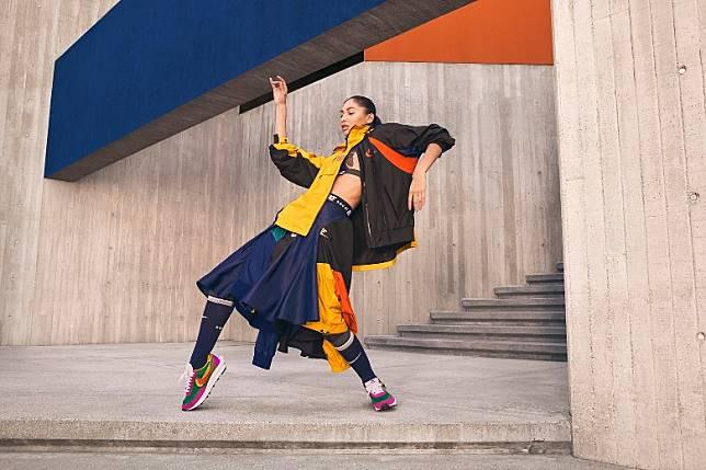 系列服飾不論褸款及裙款均以鮮艷色彩拼湊出豐富層次。(互聯網)