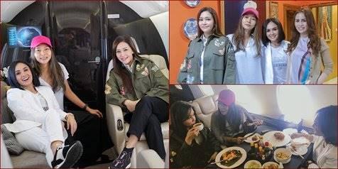 Maia, Dita dan Yuni Shara ke Malang Naik Jet Pribadi Demi Kuliner