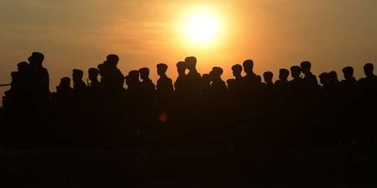 Perayaan HUT ke-74 TNI. ©2019 Merdeka.com/Imam Buhori