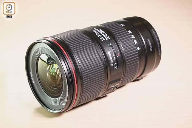 廣角鏡是影星的必然首選,這支Canon的RF 15-35mm f/2.8L IS USM,支援f/2.8大光圈,更內置影像穩定器。(莫文俊攝)