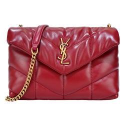 ◎歐系經典時尚名牌|◎|◎品牌:YvesSaintLaurent/YSL品牌定位:國際精品背法:斜背/側背包款:斜背包/側背包顏色:紅色系外層材質:羊皮外層材質說明:100%羊皮、金屬流行元素:全素面