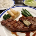 サーロインステーキ定食 - 実際訪問したユーザーが直接撮影して投稿した西新宿ステーキル・モンド 新宿店の写真のメニュー情報