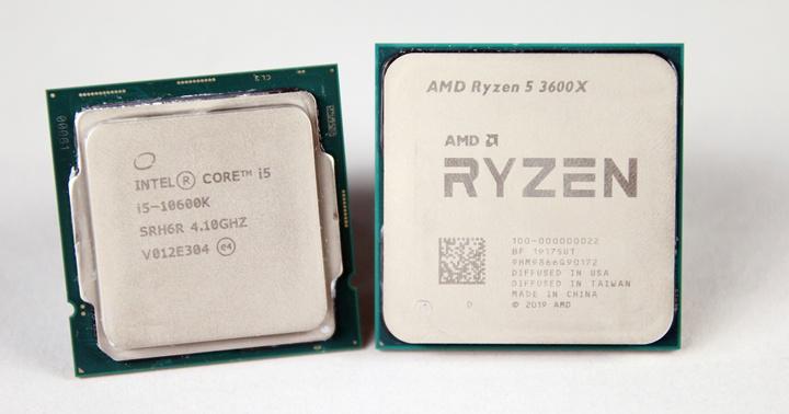 同為6核心、12執行緒的Intel i5-10600K和AMD R5 3600X處理器,就足以提供中階遊戲電腦暢玩主流遊戲的效能。