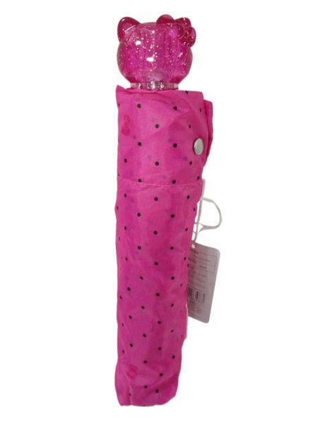 【卡漫城】 Hello Kitty 公仔大頭 把手 折傘 粉紅 點點 ㊣版 凱蒂貓 日版 遮陽 雨傘 防曬 糖果色