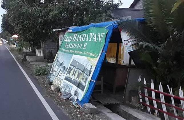 Warung Angkringan milik korban yang menjadi lokasi pelecehan seks. (Foto: iNews.id/Kismaya Wibowo)