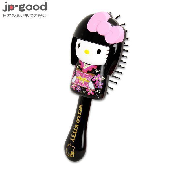 SANRIO 三麗鷗 HELLO KITTY 造型髮梳-黑和服【GBJ25375】