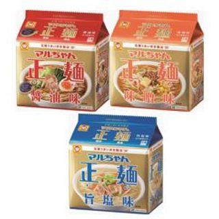 マルちゃん 正麺 醤油味/味噌味/旨塩味