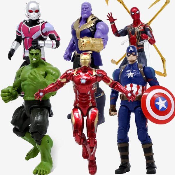 漫威復仇者聯盟4蜘蛛鋼鐵俠美國隊長綠巨人滅霸手辦模型玩具周邊3復仇者 時尚教主