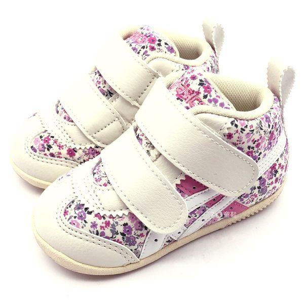 《7+1童鞋》小童 ASICS SUKU 亞瑟士 寶寶鞋 輕量高筒 機能鞋 碎花 5189 粉色