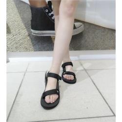 TEVA 海灘涼鞋 正品 1003987BLK 女款黑白經典款海灘涼鞋 iSPORT愛運動