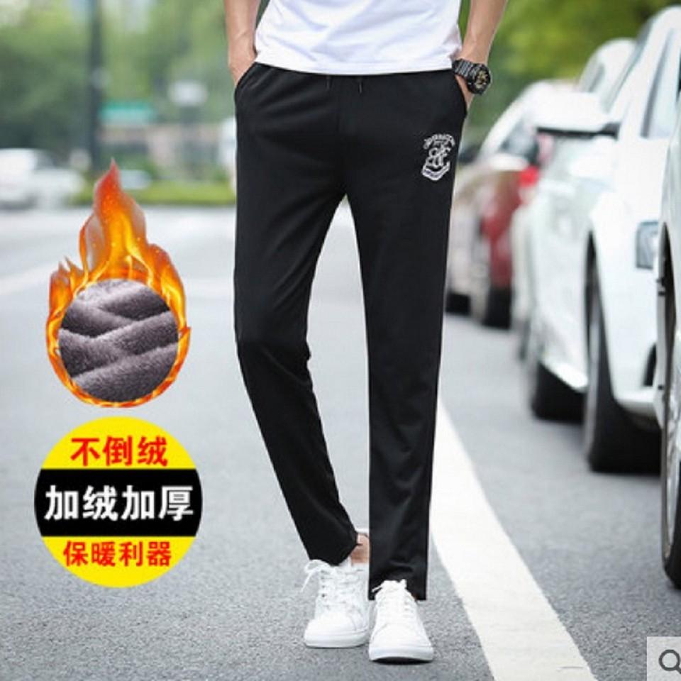 韓版秋冬裝加絨加厚運動休閒長褲L03407