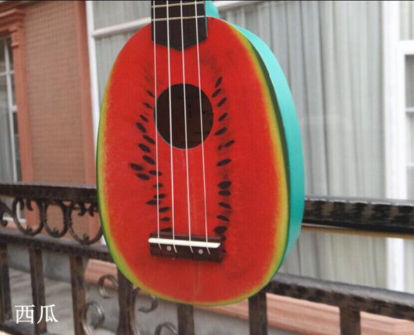 21寸尤克里里Ukulele夏威夷四弦小吉他企鵝西瓜獼猴桃