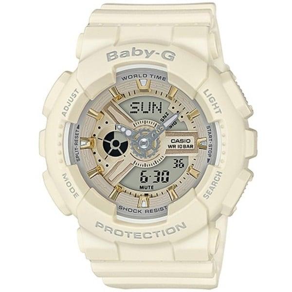 BABY-G BA-110系列百變的少女時代腕錶-米黃+金(BA-110GA-7A2)