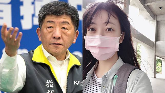 ▲被陳時中(左圖)稱讚的正妹記者私照曝光。(圖/疾管署、劉一璇IG)