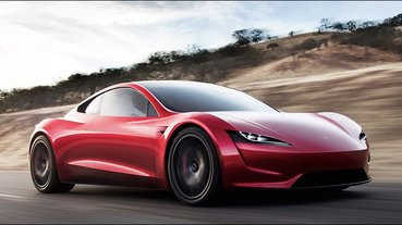 Tesla Roadster 2 如果掛上 SpaceX 火箭推進器加速有多快? 0-96km/h 只要約 1.1 秒
