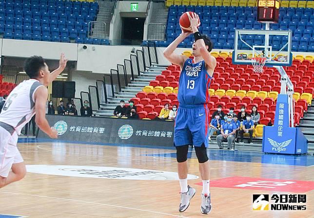 ▲亞洲盃男籃資格賽,中華隊呂政儒。(圖/記者葉政勳攝