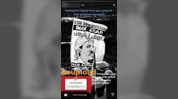 Instagram Beri Tanggapan Penghapusan Foto Rizieq Shihab