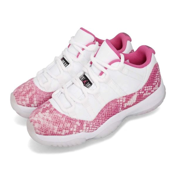 Nike Wmns Air Jordan 11 Retro Low Pink Snakeskin 白 粉紅 粉蛇 蛇紋 XI 喬丹11代 女鞋【PUMP306】 AH7860-106