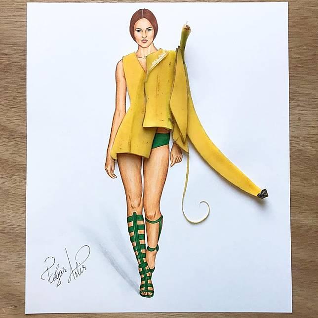 Lebih Jago Dari Desainer Sketsa Baju 3d Ini Dibuat Dari Makanan