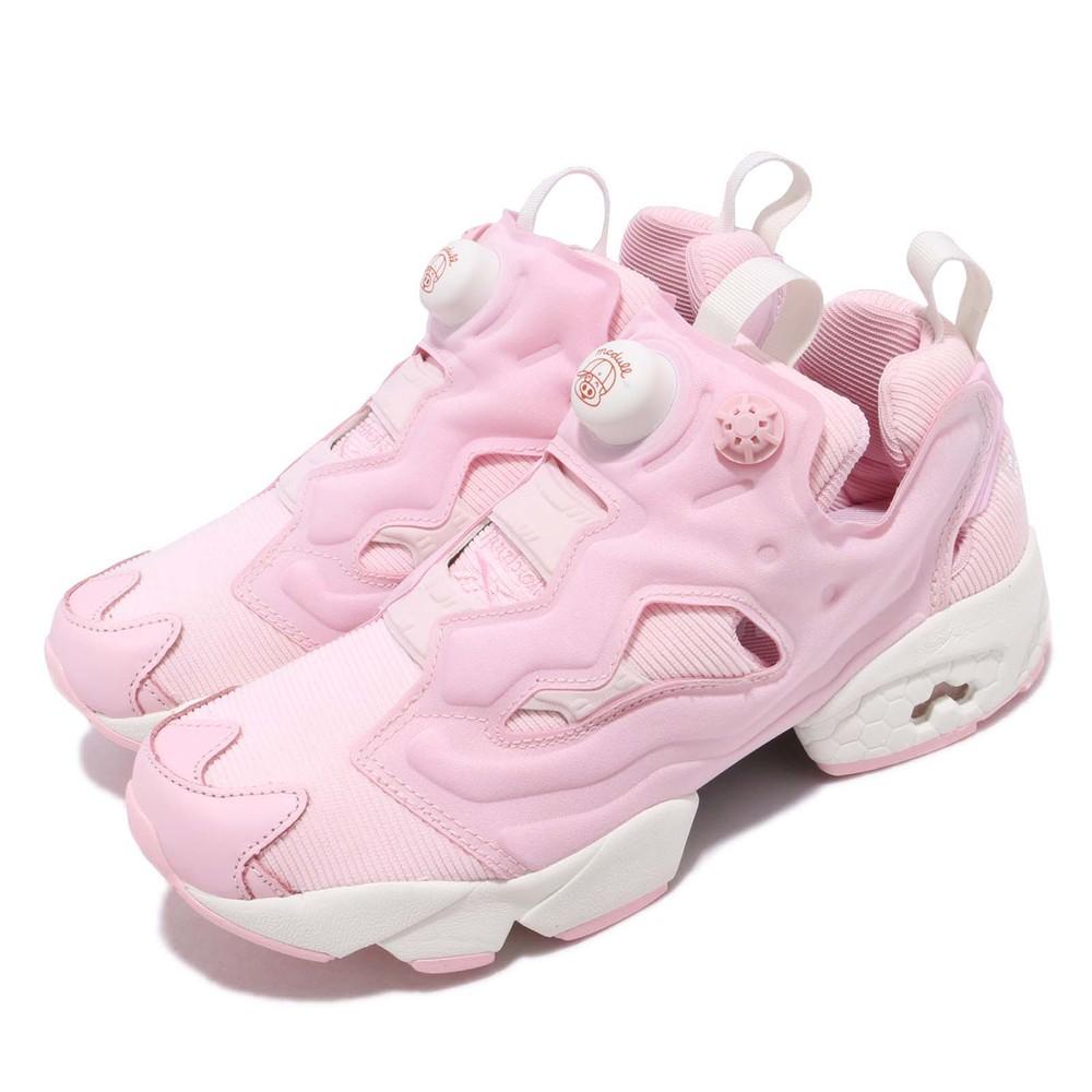 麥兜聯名Pump品牌:REEBOK型號:EF8381品名:Instapump Fury配色:粉色,白色