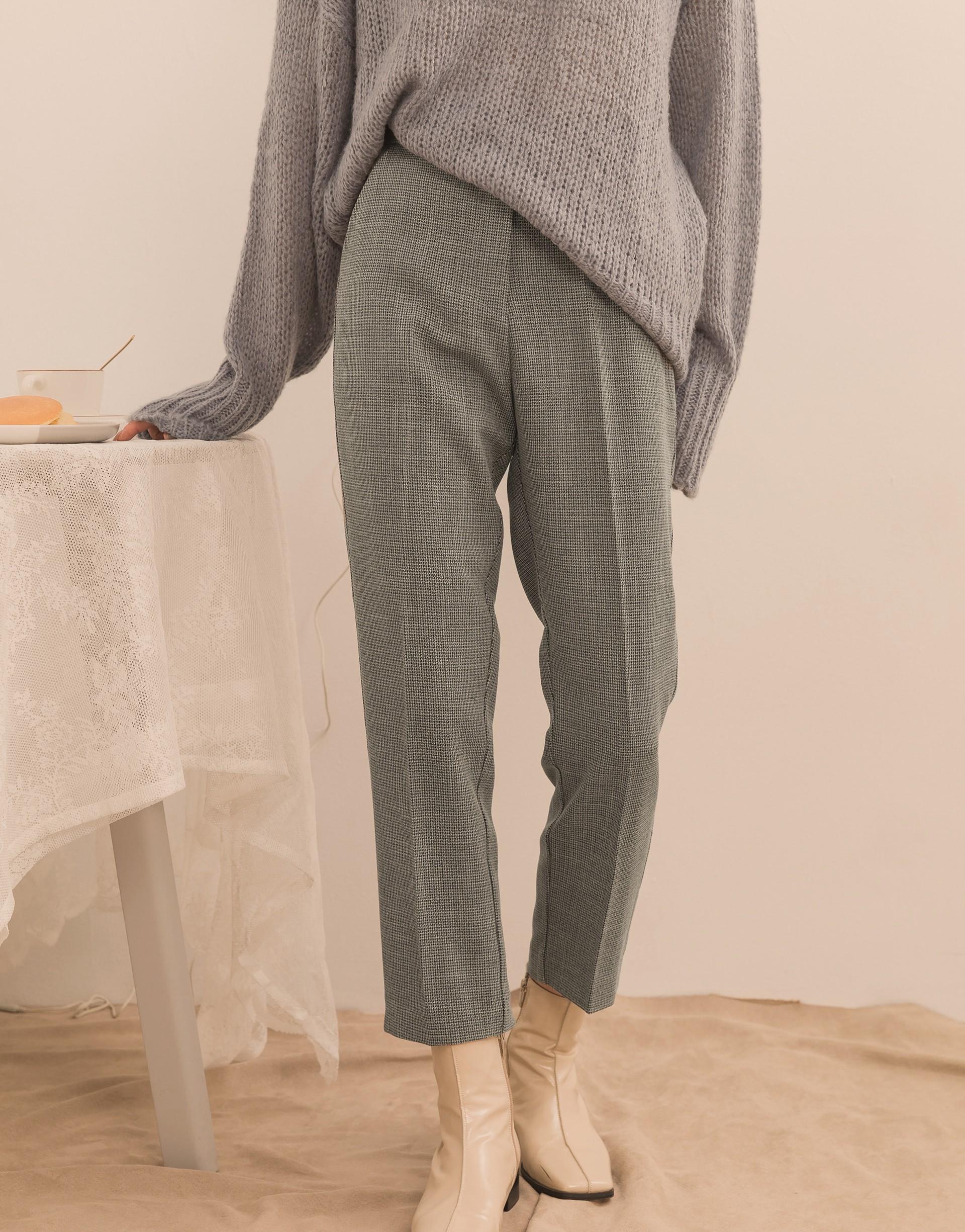 後鬆緊腰頭設計/無內裏/質感舒適布料