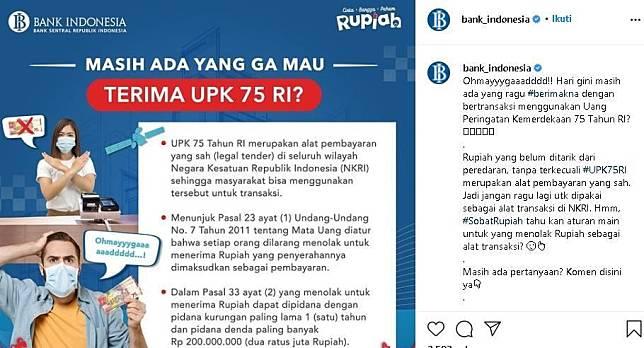 Penjelasan Bank Indonesia terkait uang edisi khusus Rp 75.000