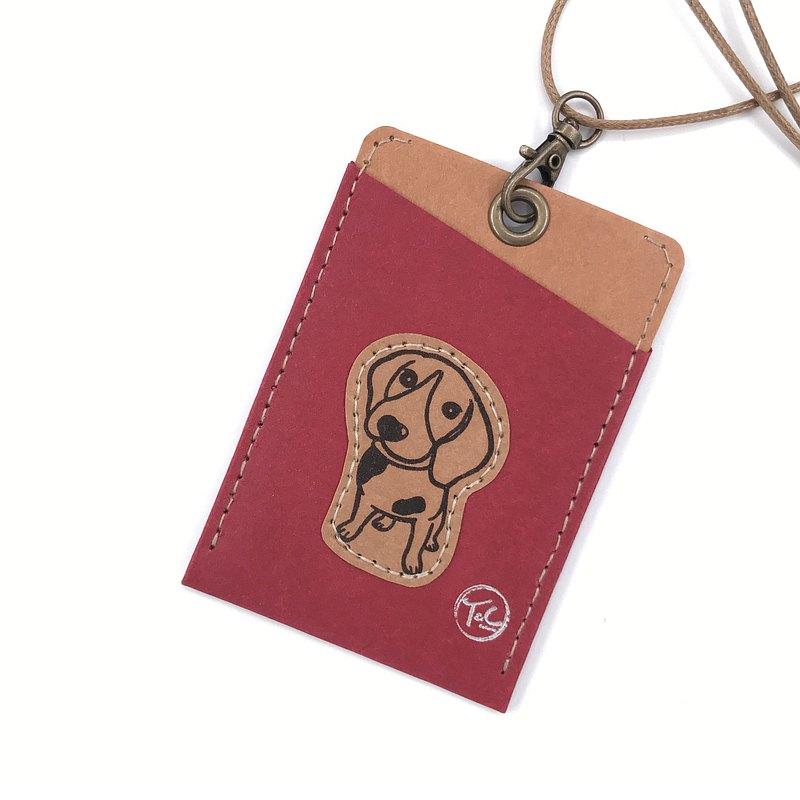 雙面皆可放,可掛在脖子或包包上(附繩子) 尺寸:11cm x 7.5cm