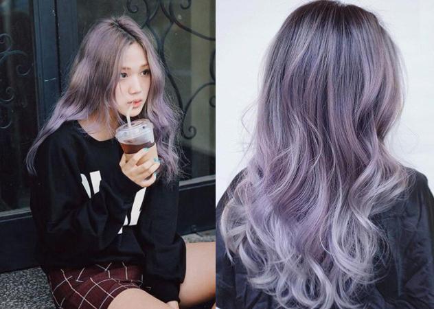 髮色 灰紫色