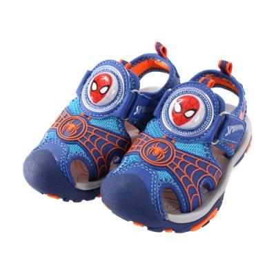 舒適耐穿護趾防撞運動型閃燈涼鞋 蜘蛛人流行電影授權圖案設計 超酷炫小朋友最開心