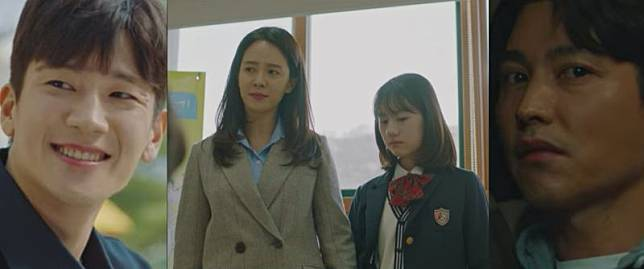 ▲劇中,宋智孝(中)的女兒先後以為硯祐、柳珍是親生父親。(圖/翻攝Netflix)