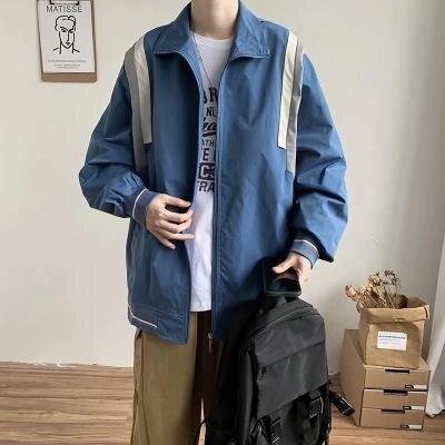 棒球外套 韓版拼色拼接百搭夾克上衣潮流棒球服男港風日系街頭外套