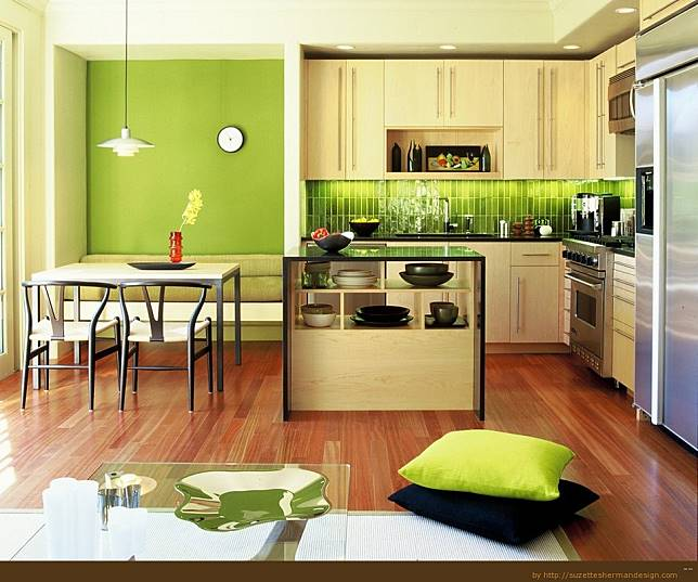 Desain Dapur Merah Hitam  desain dapur dan ruang makan jadi satu kenapa tidak