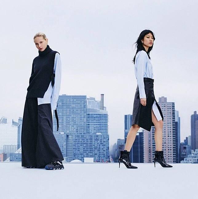 以男裝服為靈感的外套、恤衫和西褲剪裁利落,加上不對稱剪裁特色,帶出型格的中性魅力。(互聯網)