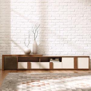 林氏木業現代簡約小戶型可伸縮機能電視櫃CP1M