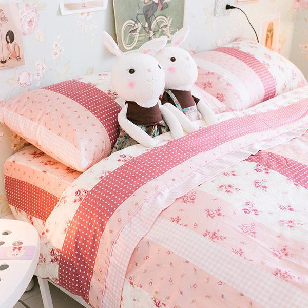 小小碎花鄉村風 單人床包單人薄被套三件組 純精梳棉 台灣製