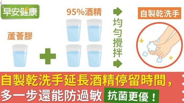 抗菌更優!自製乾洗手延長酒精停留時間,多一步還能防過敏