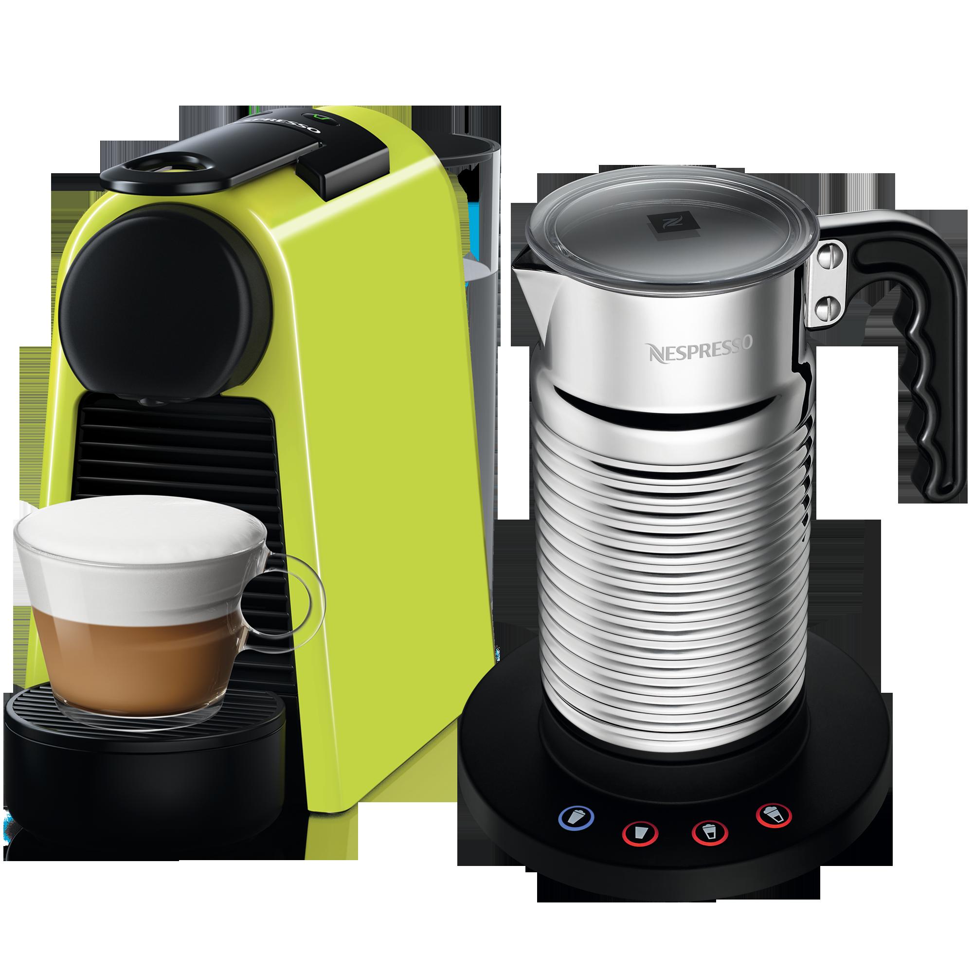 Nespresso ESSENZA MINI 萊姆綠& AERO4奶泡機組合
