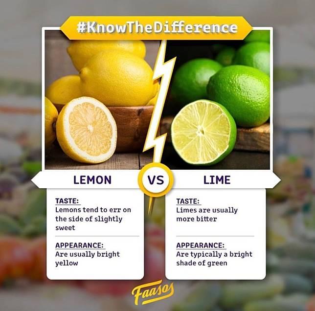 檸檬酸中帶有甘味,而青檸就有較多的苦澀味。(互聯網)